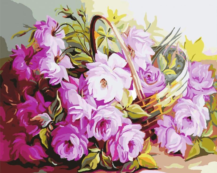Картина по номерам «Лукошко нежных цветов»Paintboy (Premium)<br><br><br>Артикул: GX7916<br>Основа: Холст<br>Сложность: средние<br>Размер: 40x50 см<br>Количество цветов: 24<br>Техника рисования: Без смешивания красок