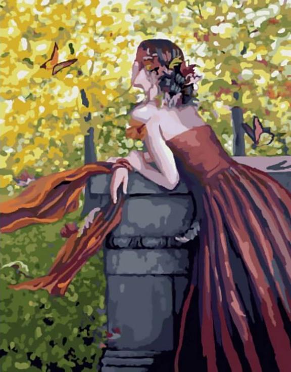 Картина по номерам «Осенняя песня» Лаури БланкЦветной (Standart)<br><br><br>Артикул: GX8258_Z<br>Основа: Холст<br>Сложность: сложные<br>Размер: 40x50 см<br>Количество цветов: 25<br>Техника рисования: Без смешивания красок