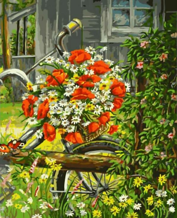 Купить Картина по номерам «Утренний букет», Paintboy (Original)