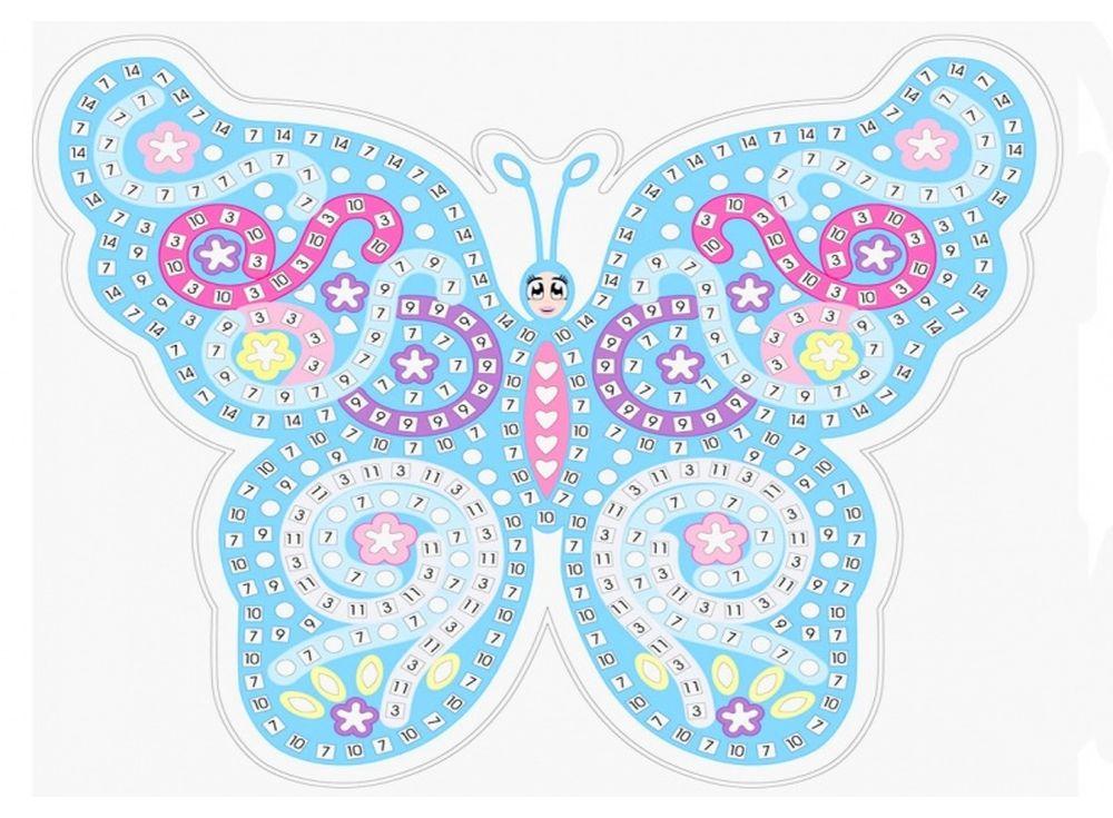 Мозаика из стикеров «Голубая бабочка»Мозаика из стикеров<br><br><br>Артикул: HD001<br>Основа: Картон<br>Размер: 27x39 см<br>Возраст: от 3 лет
