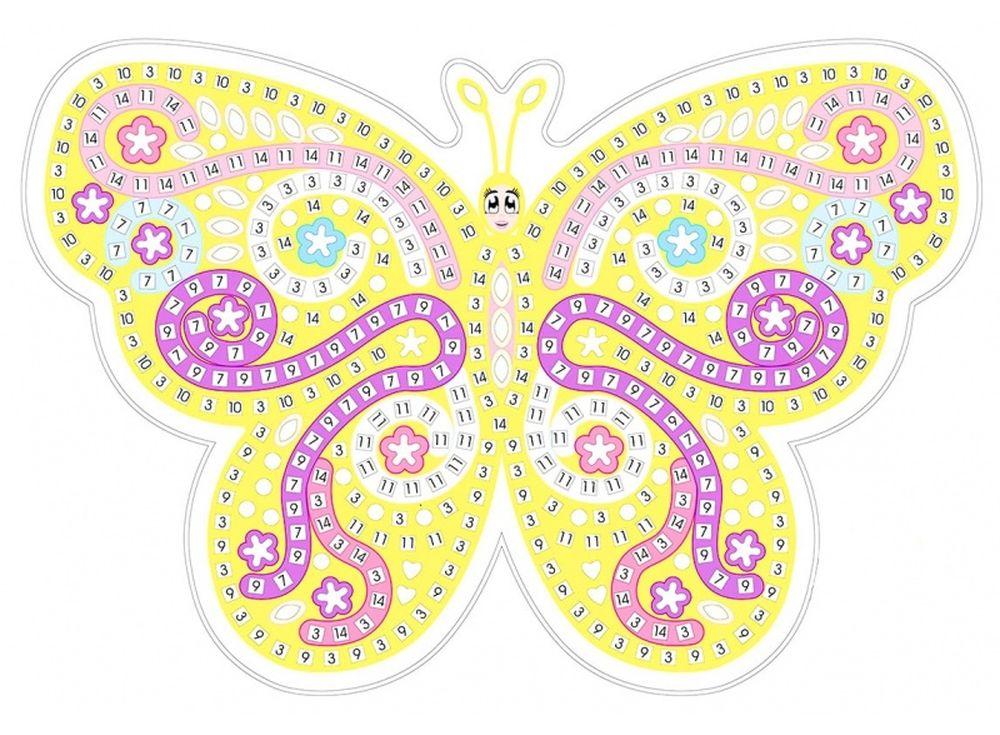 Мозаика из стикеров «Желтая бабочка»Мозаика из стикеров<br><br><br>Артикул: HD003<br>Основа: Картон<br>Размер: 27x39 см<br>Возраст: от 3 лет