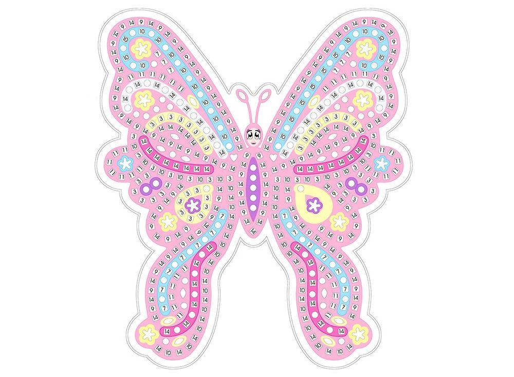 Мозаика из стикеров «Розовая бабочка»Мозаика из стикеров<br><br><br>Артикул: HD004<br>Основа: Картон<br>Размер: 27x39 см<br>Возраст: от 3 лет