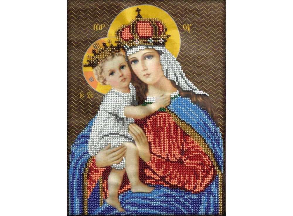 Набор вышивки бисером «Мария с младенцем»Вышивка бисером Вышиваем бисером<br><br>