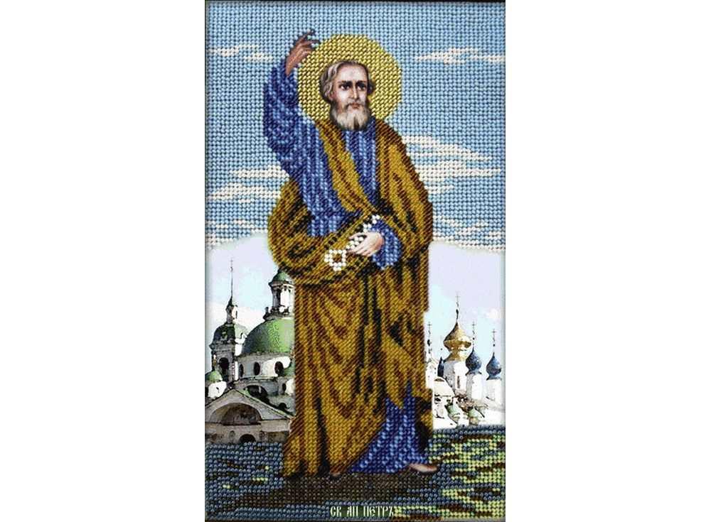 Набор вышивки бисером «Святой Апостол Петр»Вышивка бисером Вышиваем бисером<br><br><br>Артикул: L-72<br>Основа: ткань<br>Размер: 15x26 см<br>Техника вышивки: бисер<br>Тип схемы вышивки: Цветная схема<br>Рисунок на канве: нанесена схема<br>Техника: Вышивка бисером