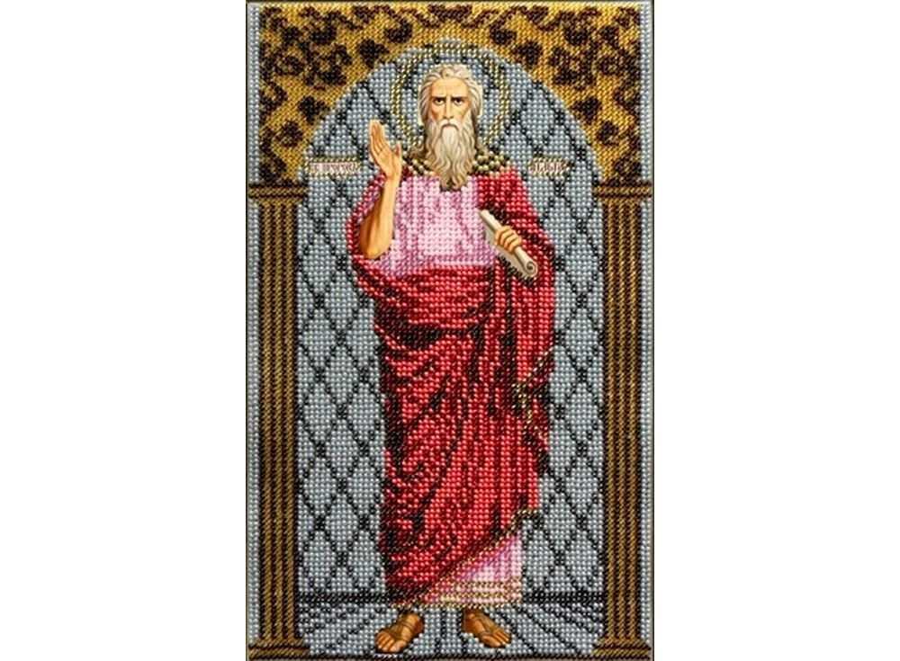 Набор вышивки бисером «Святой Илья Пророк»Вышивка бисером Вышиваем бисером<br><br><br>Артикул: L-80<br>Основа: ткань<br>Размер: 16х26 см<br>Техника вышивки: бисер<br>Тип схемы вышивки: Цветная схема<br>Рисунок на канве: нанесена схема<br>Техника: Вышивка бисером