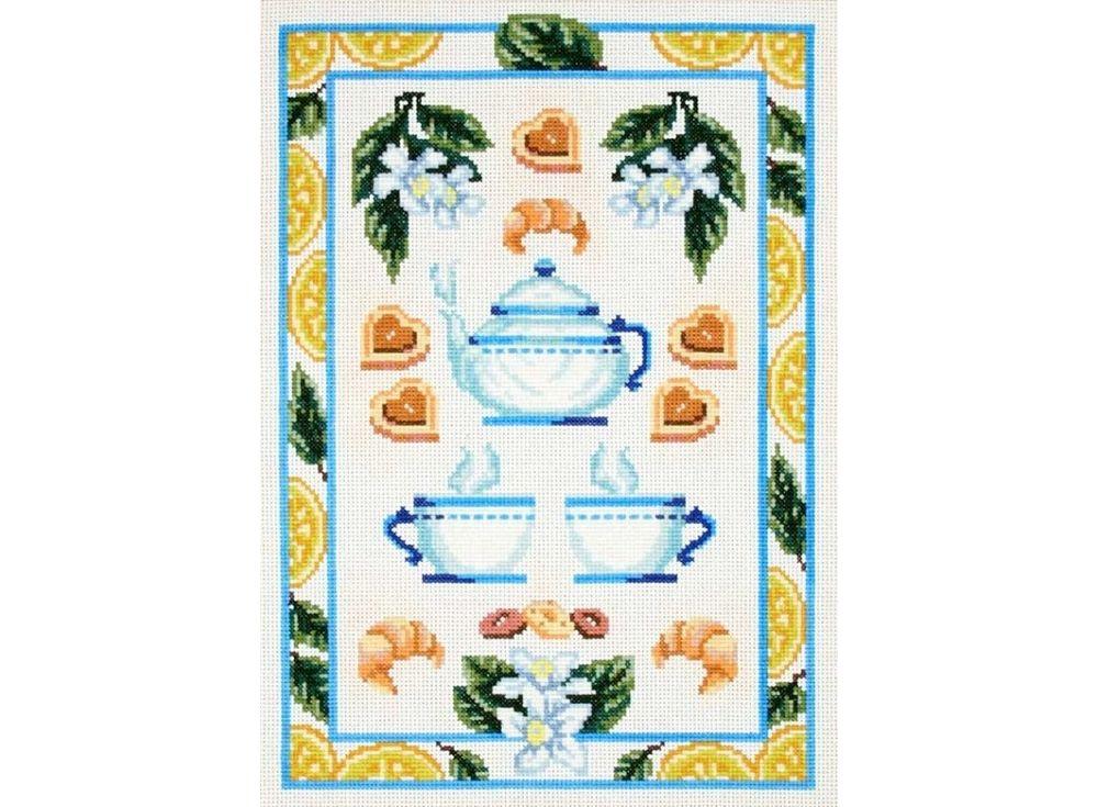 Набор для вышивания «Чайный натюрморт с лимонами»Вышивка крестом Чарiвниця<br><br><br>Артикул: N-2605<br>Основа: канва Aida 14<br>Размер: 27x35 см<br>Техника вышивки: счетный крест<br>Тип схемы вышивки: Цветная схема<br>Цвет канвы: Белый<br>Заполнение: Частичное<br>Рисунок на канве: не нанесён<br>Техника: Вышивка крестом