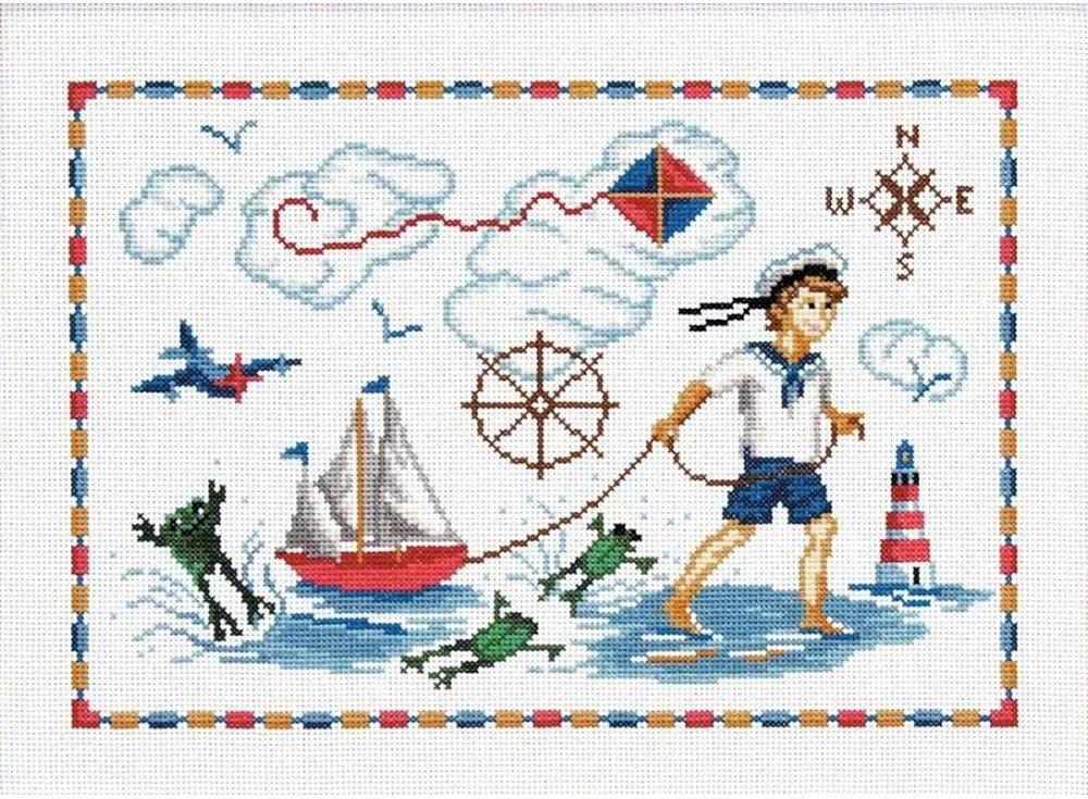 Набор для вышивания «Мальчик с корабликом»Вышивка крестом Чарiвниця<br><br><br>Артикул: N-3002<br>Основа: канва Aida 14<br>Размер: 26х36 см<br>Техника вышивки: счетный крест<br>Тип схемы вышивки: Цветная схема<br>Цвет канвы: Белый<br>Заполнение: Частичное<br>Рисунок на канве: не нанесён<br>Техника: Вышивка крестом
