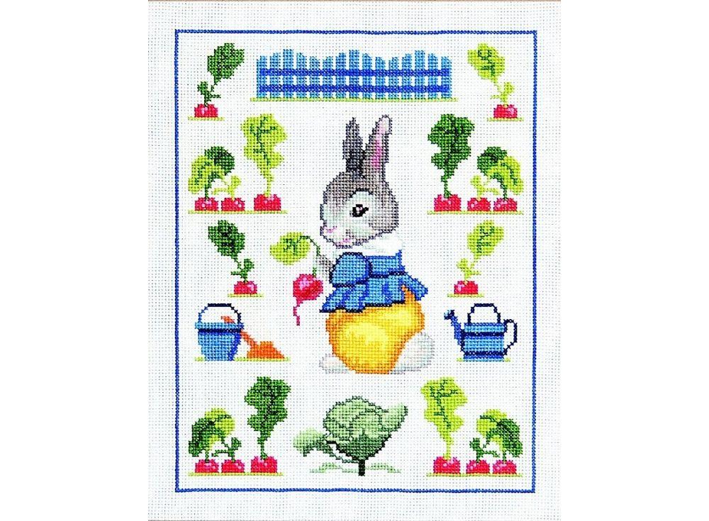 Набор для вышивания «Кролик-огородник»Вышивка крестом Чарiвниця<br><br><br>Артикул: N-3007<br>Основа: канва Aida 14<br>Размер: 22х28 см<br>Техника вышивки: счетный крест<br>Тип схемы вышивки: Цветная схема<br>Цвет канвы: Белый<br>Заполнение: Частичное<br>Рисунок на канве: не нанесён<br>Техника: Вышивка крестом
