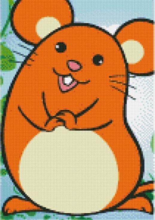 Стразы «Мышка»Цветной<br><br><br>Артикул: X160<br>Основа: Холст без подрамника<br>Сложность: легкие<br>Размер: 17x22 см<br>Выкладка: Частичная<br>Количество цветов: 8-15<br>Тип страз: Круглые непрозрачные (акриловые)