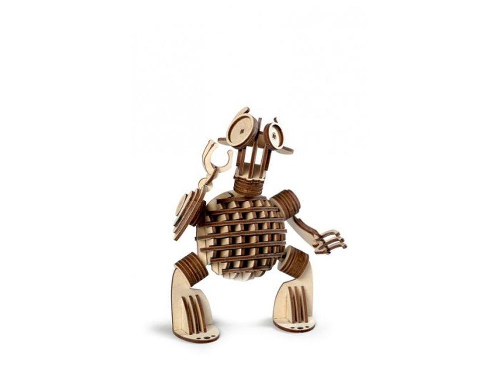 Конструктор «Леммитс Гоша»3D Конструкторы Lemmo<br>Экологически чистые, развивающие конструкторы от российского производителя Lemmo помогут вашему ребенку развить мелкую моторику рук, воображение, пространственное мышление, логику и познакомят с предметным моделированием.<br> <br> Все детали выполнены из ка...<br><br>Артикул: 00-11<br>Вес: 230 г<br>Размер готовой модели: 8,5x15x18 см<br>Материал: дерево (фанера)<br>Возраст: от 5 лет