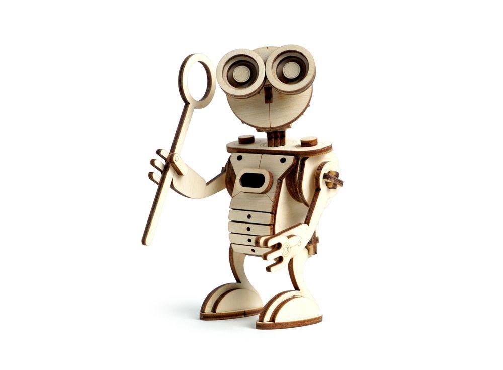 Конструктор «Робот САН»3D Конструкторы Lemmo<br>Экологически чистые, развивающие конструкторы от российского производителя Lemmo помогут вашему ребенку развить мелкую моторику рук, воображение, пространственное мышление, логику и познакомят с предметным моделированием.<br> <br>Все детали выполнены из кач...<br><br>Артикул: 00-26<br>Вес: 100 г<br>Размер готовой модели: 13x8x6 см<br>Материал: дерево (фанера)<br>Возраст: от 5 лет