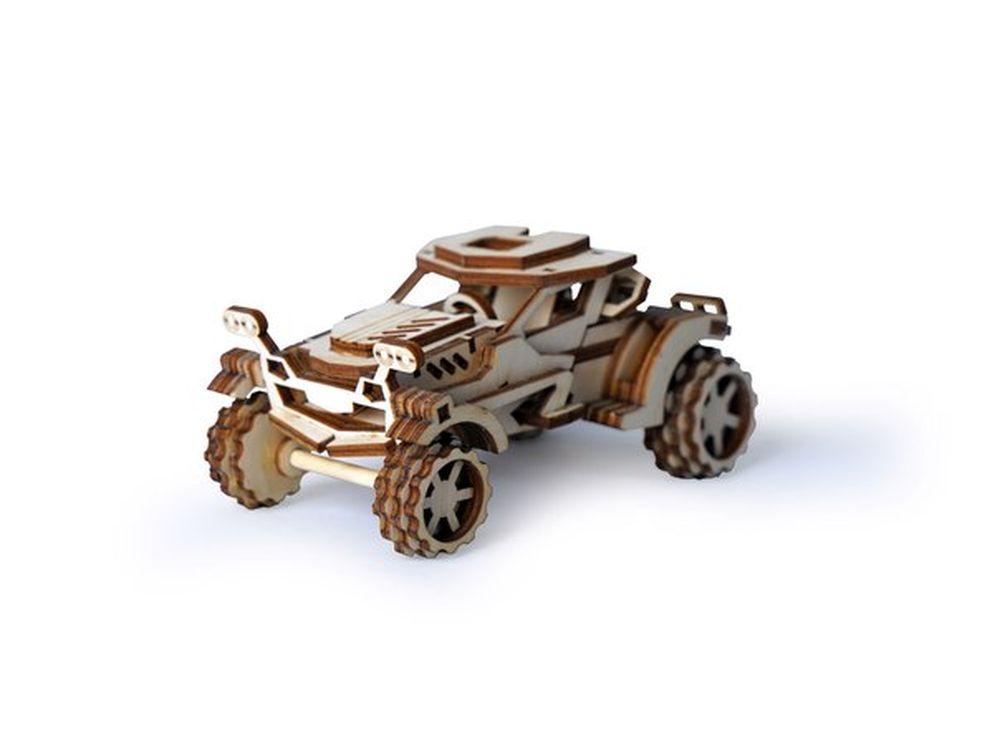 Конструктор «Внедорожник Скорпион»3D Конструкторы Lemmo<br>Экологически чистые, развивающие конструкторы от российского производителя Lemmo помогут вашему ребенку развить мелкую моторику рук, воображение, пространственное мышление, логику и познакомят с предметным моделированием.<br> <br> Все детали выполнены из ка...<br><br>Артикул: 00-54<br>Размер готовой модели: 12x7,5x6,5 см<br>Материал: дерево (фанера)<br>Возраст: от 5 лет