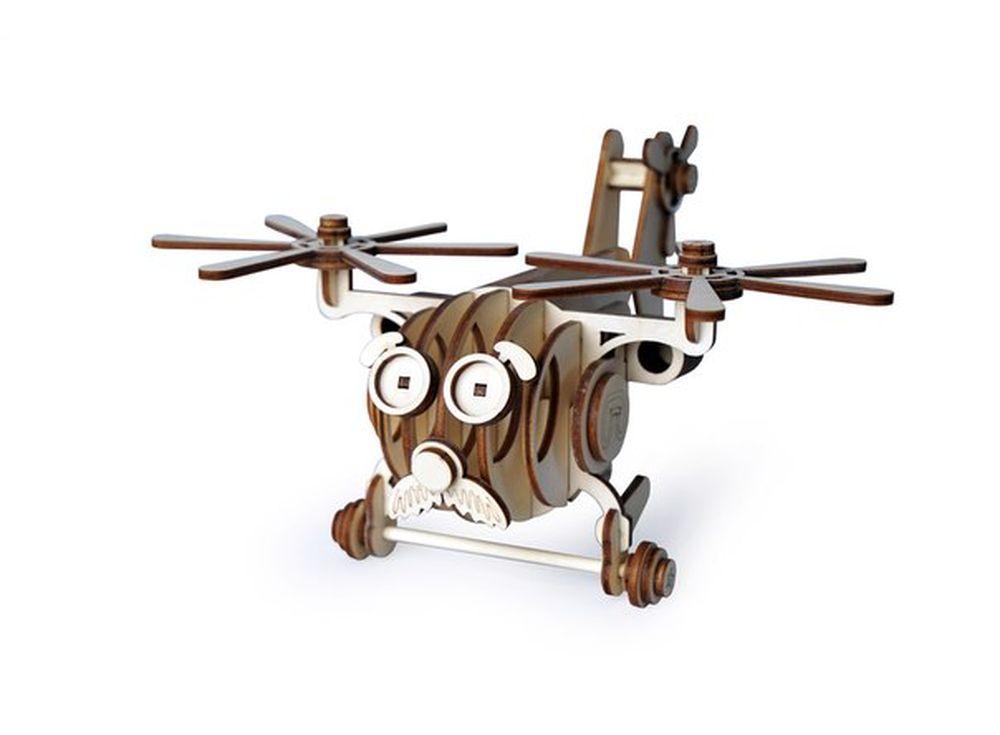 Конструктор «Вертолет Палыч»3D Конструкторы Lemmo<br>Экологически чистые, развивающие конструкторы от российского производителя Lemmo помогут вашему ребенку развить мелкую моторику рук, воображение, пространственное мышление, логику и познакомят с предметным моделированием.<br> <br>Все детали выполнены из кач...<br><br>Артикул: 00-55<br>Размер готовой модели: 17x22x12 см<br>Материал: дерево (фанера)<br>Возраст: от 5 лет