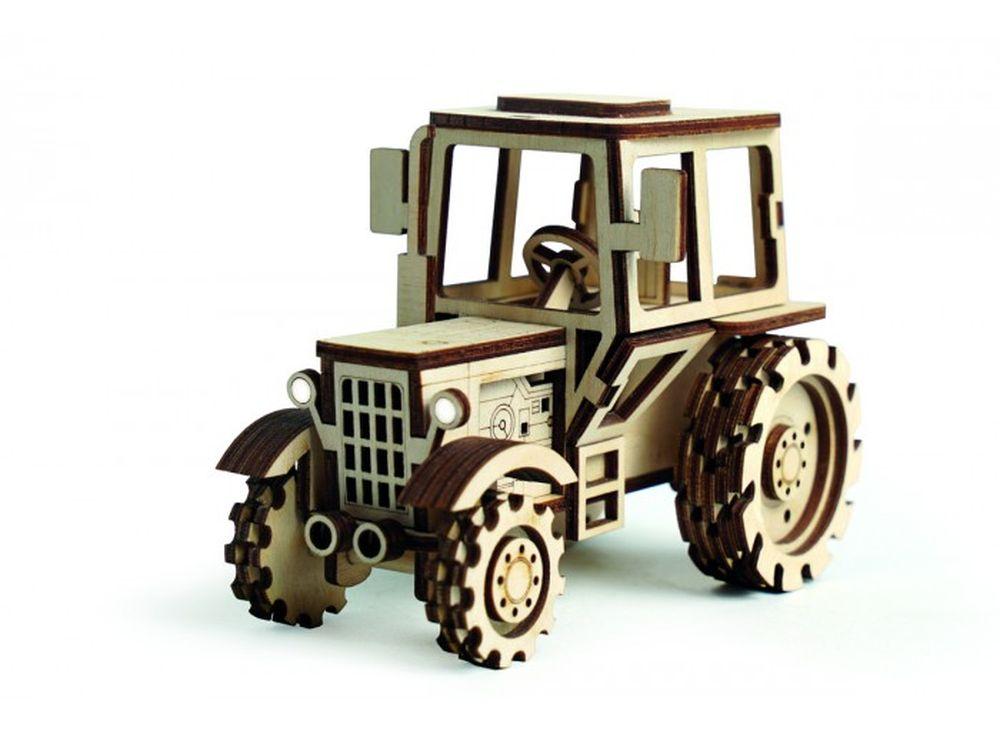 Конструктор «Трактор»3D Конструкторы Lemmo<br>Экологически чистые, развивающие конструкторы от российского производителя Lemmo помогут вашему ребенку развить мелкую моторику рук, воображение, пространственное мышление, логику и познакомят с предметным моделированием.<br> <br>Все детали выполнены из кач...<br><br>Артикул: 00-8<br>Вес: 130 г<br>Размер готовой модели: 12,5x7x9 см<br>Материал: дерево (фанера)<br>Возраст: от 5 лет