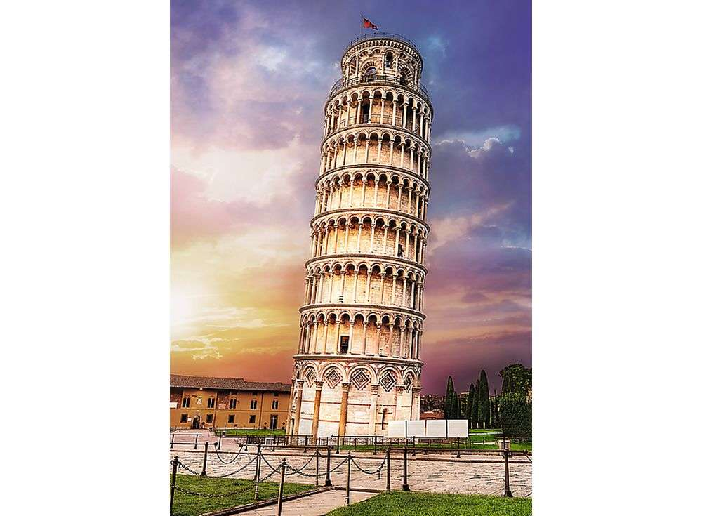 Пазлы «Пизанская башня»Trefl<br><br><br>Артикул: 10441<br>Размер: 68x48 см<br>Возраст: от 14 лет