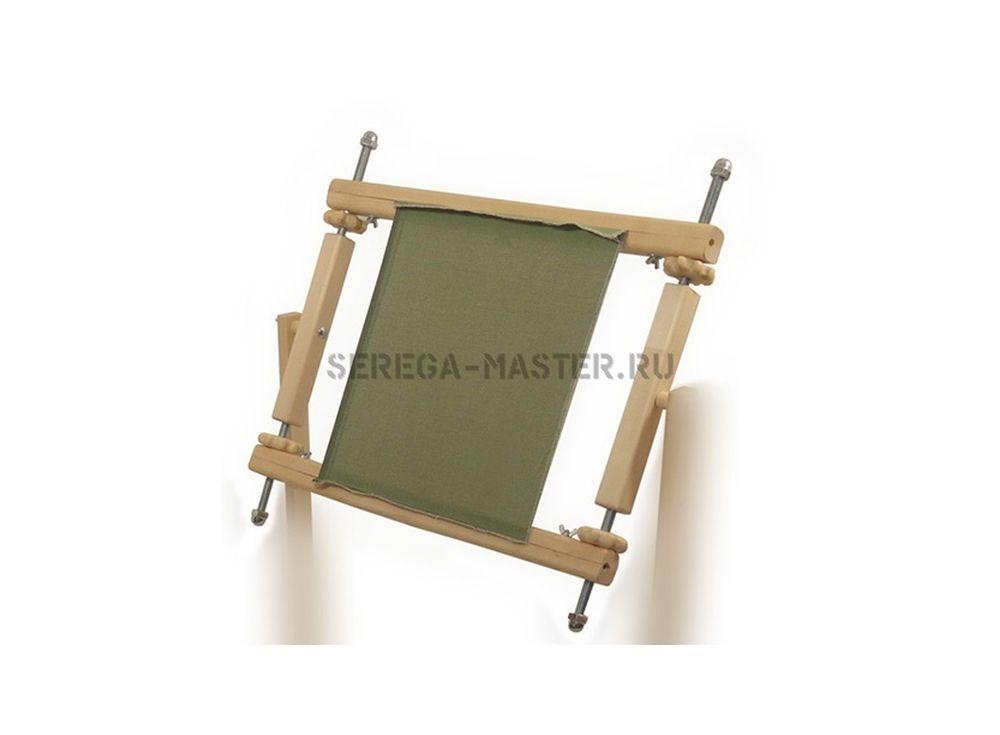 Супер-рама (СР)Аксессуары для вышивки<br>Гайки в деревянной оправе позволяют натягивать канву без специального инструмента и без проблем по металлическим шпилькам, без ограничений. Оригинальный способ закрепления канвы позволяет заправлять любую канву по жесткости и толщине ткани.<br><br>Артикул: 1060<br>Размер: Ширина: 50 см<br>Вес: 1,8 кг<br>Материал: Берёза