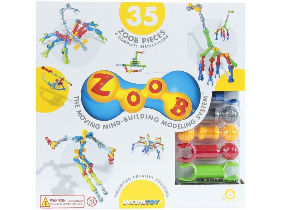 Конструктор ZOOB 35Пластиковые конструкторы ZOOB<br>ZOOB – необычный подвижный конструктор, завоевавший любовь родителей и детей во всем мире благодаря своим развивающим способностям и безграничным возможностям конструирования.<br> <br> Каждый набор состоит из прочных и приятных на ощупь деталей 5 видов, котор...<br><br>Артикул: 11035<br>Вес: 300 г<br>Материал: Пластик<br>Размер деталей: 6 см<br>Возраст: от 6 лет