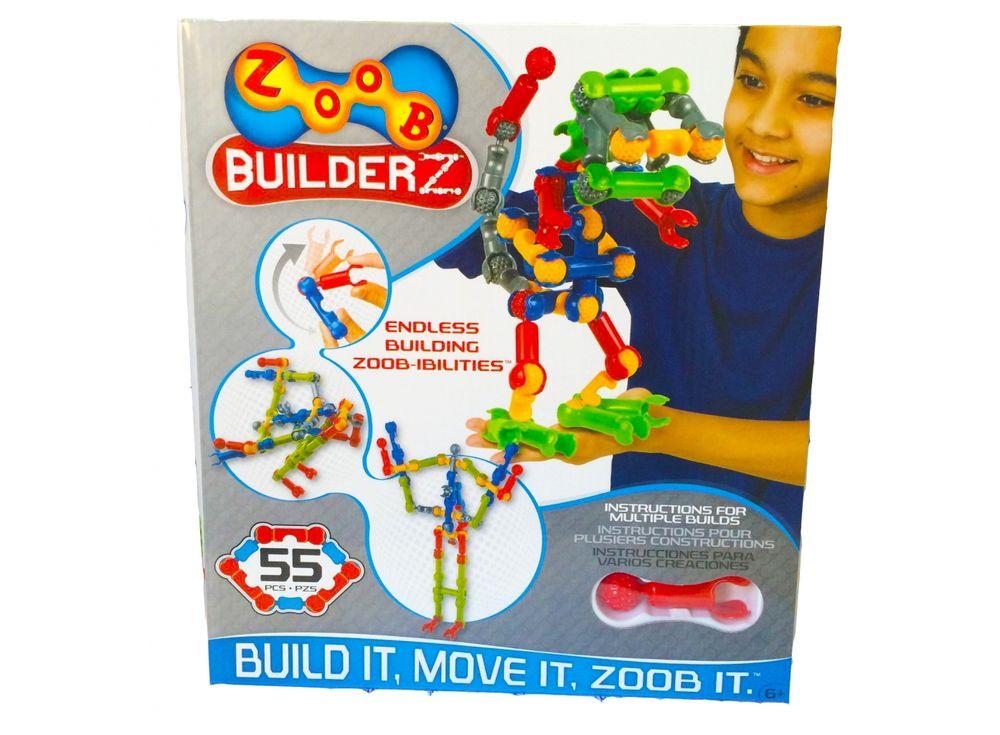 Конструктор ZOOB 55Пластиковые конструкторы ZOOB<br>ZOOB – необычный подвижный конструктор, завоевавший любовь родителей и детей во всем мире благодаря своим развивающим способностям и безграничным возможностям конструирования.<br> <br> Каждый набор состоит из прочных и приятных на ощупь деталей 5 видов, котор...<br><br>Артикул: 11055<br>Вес: 700 г<br>Материал: Пластик<br>Размер деталей: 6 см<br>Возраст: от 6 лет