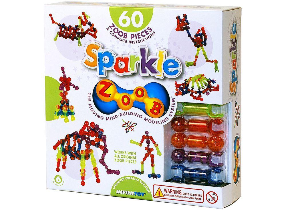 Конструктор ZOOB SPARKLE 60Пластиковые конструкторы ZOOB<br>ZOOB – необычный подвижный конструктор, завоевавший любовь родителей и детей во всем мире благодаря своим развивающим способностям и безграничным возможностям конструирования.<br> <br> Каждый набор состоит из прочных и приятных на ощупь деталей 5 видов, котор...<br><br>Артикул: 11060<br>Вес: 400 г<br>Материал: Пластик<br>Размер деталей: 6 см<br>Возраст: от 6 лет