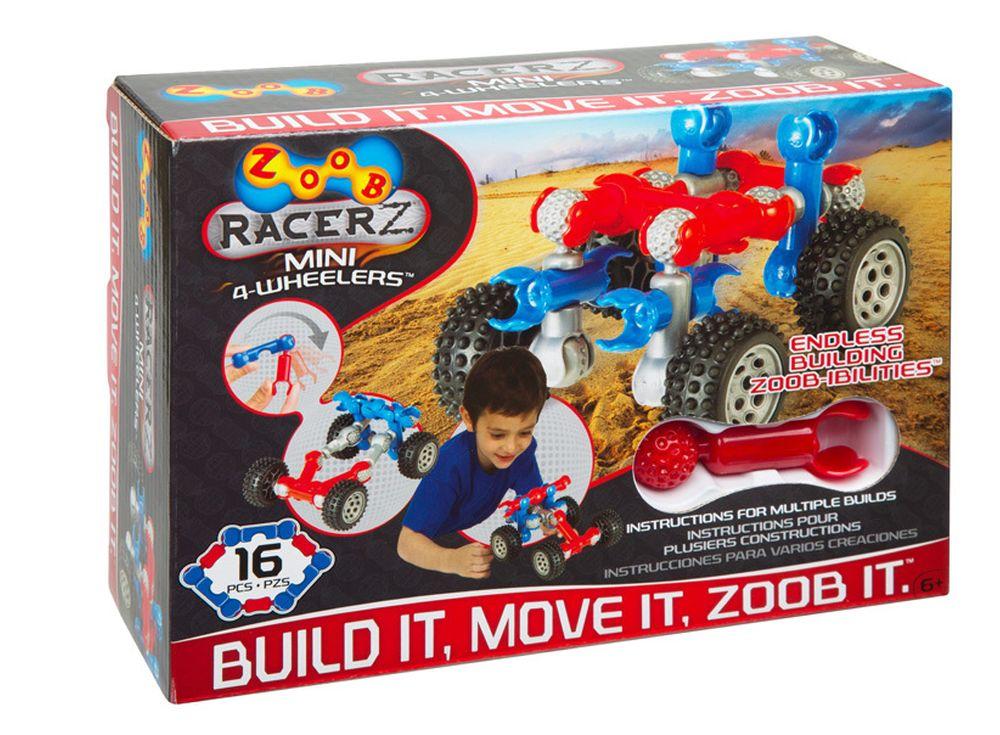 Конструктор ZOOB Mobile Mini 4-WheelerПластиковые конструкторы ZOOB<br>ZOOB – необычный подвижный конструктор, завоевавший любовь родителей и детей во всем мире благодаря своим развивающим способностям и безграничным возможностям конструирования.<br> <br> Каждый набор состоит из прочных и приятных на ощупь деталей 5 видов, котор...<br><br>Артикул: 12050<br>Вес: 200 г<br>Материал: Пластик<br>Размер деталей: 6 см<br>Возраст: от 6 лет
