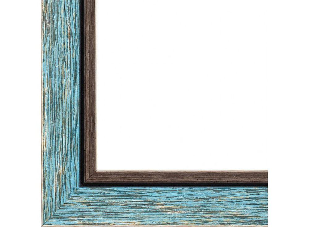 Рамка для картин «Nancy»Багетные рамки<br><br><br>Артикул: 2268-BB<br>Размер: 40x50 см<br>Цвет: Голубой+коричневый<br>Ширина: 50<br>Материал багета: Пластик<br>Глубина багета: 6 мм