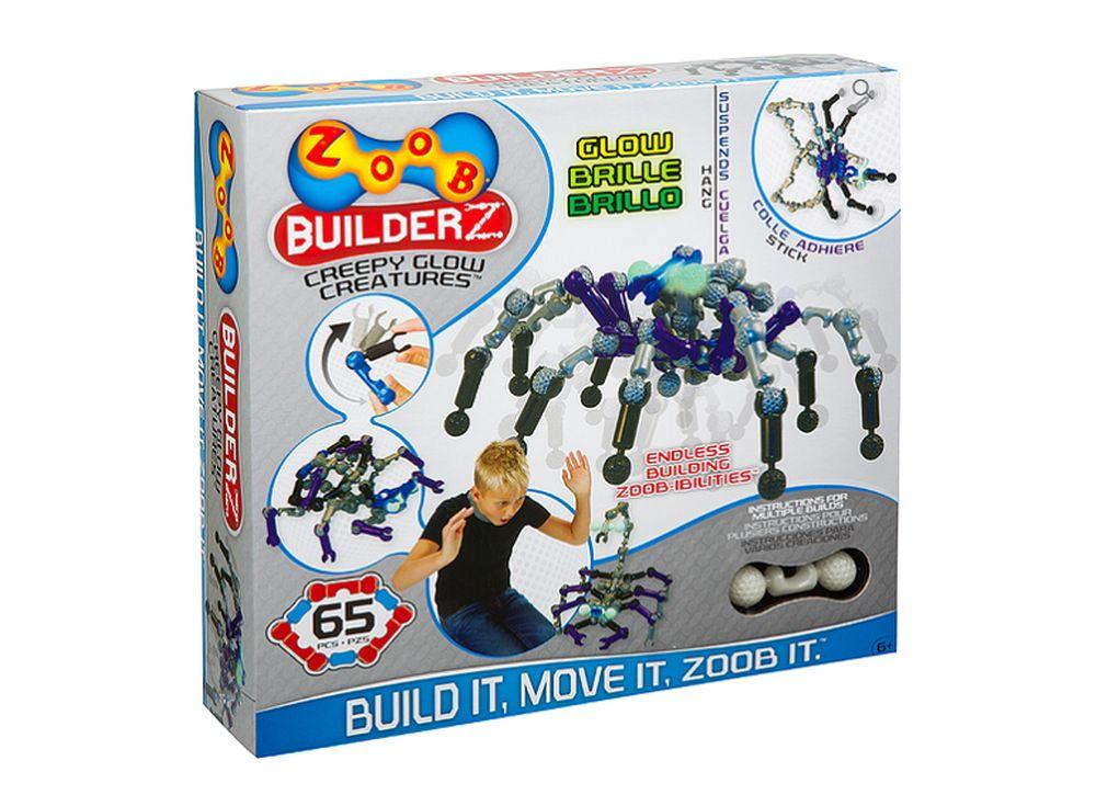 Конструктор ZOOB GLOW Creepy CreaturesПластиковые конструкторы ZOOB<br>ZOOB – необычный подвижный конструктор, завоевавший любовь родителей и детей во всем мире благодаря своим развивающим способностям и безграничным возможностям конструирования.<br> <br> Каждый набор состоит из прочных и приятных на ощупь деталей 5 видов, котор...<br><br>Артикул: 14003<br>Вес: 600 г<br>Материал: Пластик<br>Размер деталей: 6 см<br>Возраст: от 6 лет
