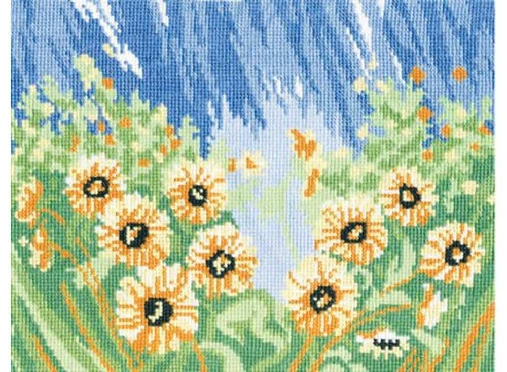 Набор для вышивания «Подсолнухи»Вышивка крестом Овен<br><br><br>Артикул: 141<br>Основа: канва Aida 14<br>Размер: 25x20 см<br>Техника вышивки: счетный крест<br>Тип схемы вышивки: Цветная схема<br>Цвет канвы: Белый<br>Количество цветов: 10<br>Заполнение: Полное<br>Рисунок на канве: не нанесён<br>Техника: Вышивка крестом