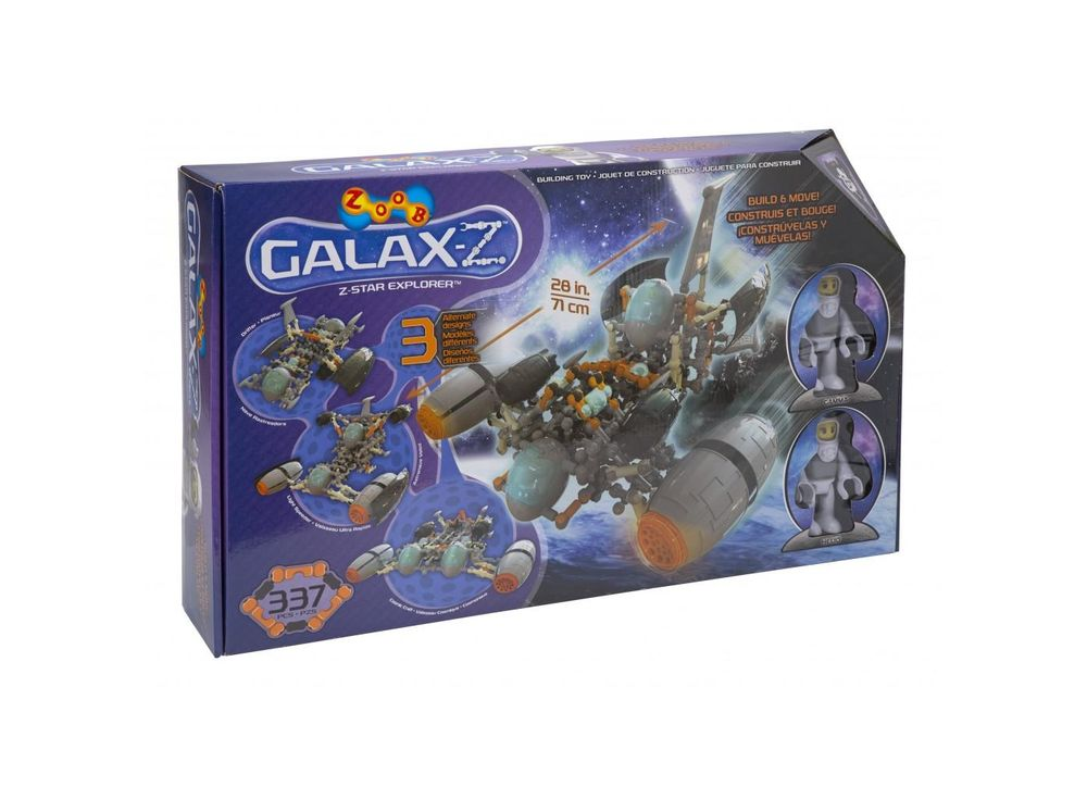 Конструктор ZOOB GALAXY - Z Star ExplorerПластиковые конструкторы ZOOB<br><br><br>Артикул: 16010<br>Вес: 2700 г<br>Материал: Пластик<br>Размер деталей: 6 см<br>Возраст: от 6 лет