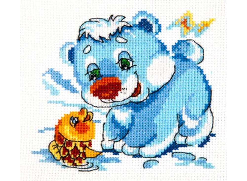 Набор для вышивания «Белый медвежонок»Вышивка крестом Чудесная игла<br><br><br>Артикул: 17-14<br>Основа: канва Aida 14 (хлопок)<br>Сложность: легкие<br>Размер: 12х11 см<br>Техника вышивки: счетный крест<br>Тип схемы вышивки: Цветная схема<br>Цвет канвы: Белый<br>Количество цветов: 12<br>Игла: № 24<br>Рисунок на канве: не нанесён<br>Техника: Вышивка крестом<br>Нитки: мулине 100% хлопок Bestex
