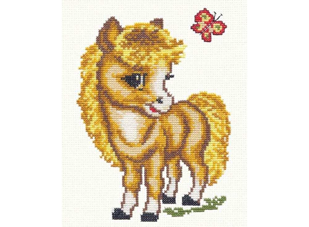 Набор для вышивания «Веселая лошадка»Вышивка крестом Чудесная игла<br><br><br>Артикул: 18-02<br>Основа: канва Aida 14 (хлопок)<br>Сложность: легкие<br>Размер: 18x14 см<br>Техника вышивки: счетный крест<br>Тип схемы вышивки: Цветная схема<br>Цвет канвы: Белый<br>Количество цветов: 9<br>Игла: № 24<br>Рисунок на канве: не нанесён<br>Техника: Вышивка крестом<br>Нитки: мулине 100% хлопок Gamma