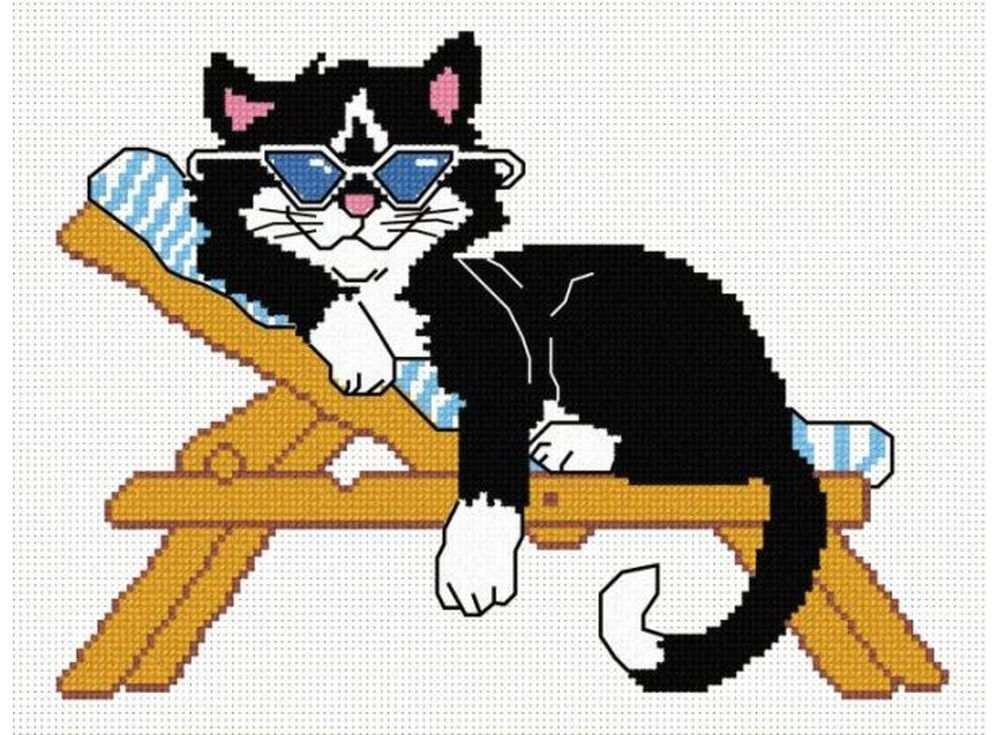 Набор для вышивания «Кот на лежаке»Вышивка крестом Овен<br><br><br>Артикул: 293<br>Основа: канва Aida 14<br>Размер: 25х20 см<br>Техника вышивки: счетный крест<br>Тип схемы вышивки: Цветная схема<br>Цвет канвы: Белый<br>Количество цветов: 7<br>Заполнение: Частичное<br>Рисунок на канве: не нанесён<br>Техника: Вышивка крестом