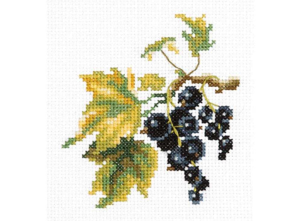 Набор для вышивания «Черная смородина»Вышивка крестом Чудесная игла<br><br><br>Артикул: 31-03<br>Основа: канва Aida 14 (хлопок)<br>Сложность: легкие<br>Размер: 10х11 см<br>Техника вышивки: счетный крест<br>Тип схемы вышивки: Цветная схема<br>Цвет канвы: Белый<br>Количество цветов: 14<br>Игла: № 24<br>Рисунок на канве: не нанесён<br>Техника: Вышивка крестом<br>Нитки: мулине 100% хлопок Чудесная игла