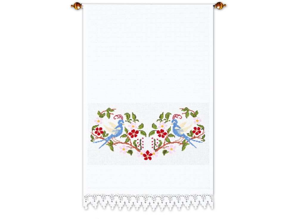Набор для вышивания «Райские птицы»Вышивка крестом Овен<br><br><br>Артикул: 350(П)<br>Основа: рушниковая ткань со вставками канвы по краям белого цвета<br>Размер: 160х40 см<br>Техника вышивки: счетный крест<br>Тип схемы вышивки: Цветная схема<br>Цвет канвы: Белый<br>Количество цветов: 9<br>Заполнение: Частичное<br>Рисунок на канве: не нанесён<br>Техника: Вышивка крестом