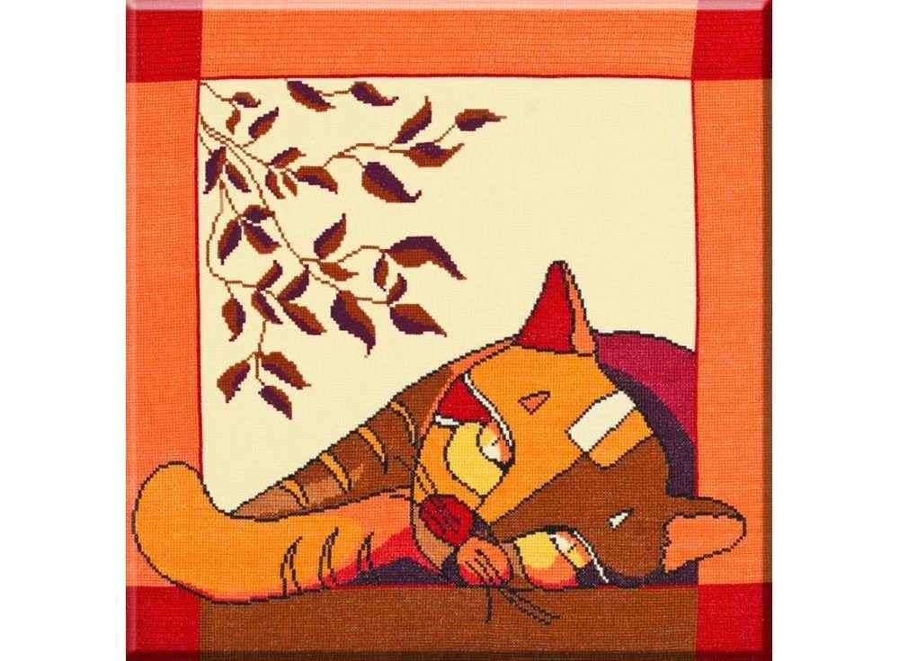 Набор для вышивания «Стилизованные коты №1»Вышивка крестом Овен<br><br><br>Артикул: 358<br>Основа: канва Aida 14<br>Размер: 40х40 см<br>Техника вышивки: счетный крест<br>Тип схемы вышивки: Цветная схема<br>Цвет канвы: Бежевый<br>Количество цветов: 11<br>Заполнение: Частичное<br>Рисунок на канве: не нанесён<br>Техника: Вышивка крестом