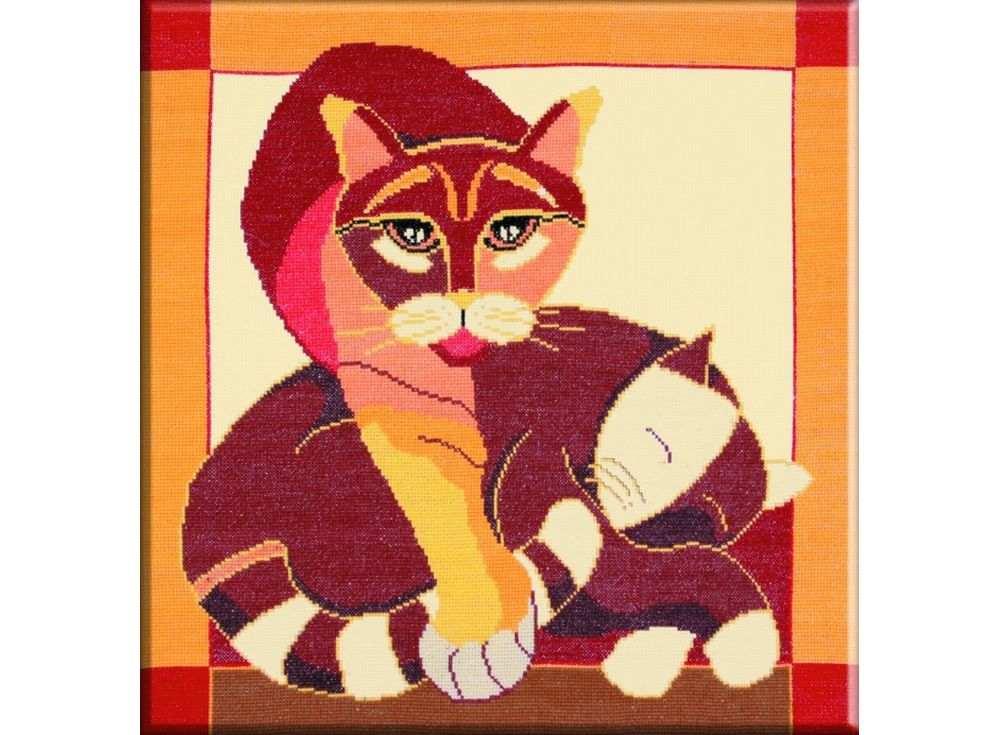 Набор для вышивания «Стилизованные коты №2»Вышивка крестом Овен<br><br><br>Артикул: 359<br>Основа: канва Aida 14<br>Размер: 40x40 см<br>Техника вышивки: счетный крест<br>Тип схемы вышивки: Цветная схема<br>Цвет канвы: Бежевый<br>Количество цветов: 12<br>Заполнение: Частичное<br>Рисунок на канве: не нанесён<br>Техника: Вышивка крестом