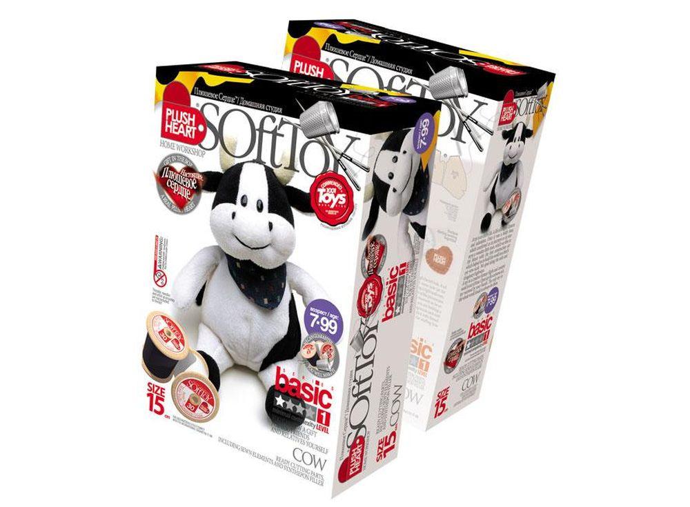 Набор для шитья игрушки «Корова»Наборы для шитья игрушек<br>С помощью набора ребенок почти самостоятельно (возможно, совсем немного понадобится помощь или контроль взрослого) может сшить прекрасную мягкую эксклюзивную игрушку. В комплект набора входят все материалы, которые необходимы для пошива игрушки (кроме инс...<br><br>Артикул: 457023<br>Сложность: сложные<br>Размер: высота 15 см<br>Техника: Шитье<br>Упаковка: 22x15x7 см<br>Возраст: от 7 лет