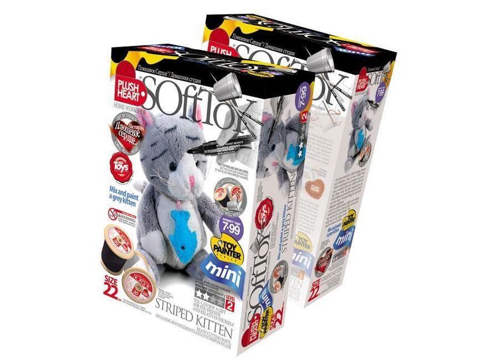 Набор для шитья игрушки «Полосатый котенок»Наборы для шитья игрушек<br>С помощью набора ребенок почти самостоятельно (возможно, совсем немного понадобится помощь или контроль взрослого) может сшить прекрасную мягкую эксклюзивную игрушку. В комплект набора входят все материалы, которые необходимы для пошива игрушки (кроме инс...<br><br>Артикул: 457032<br>Сложность: сложные<br>Размер: высота 22 см<br>Техника: Шитье<br>Упаковка: 22x15x7 см<br>Возраст: от 7 лет