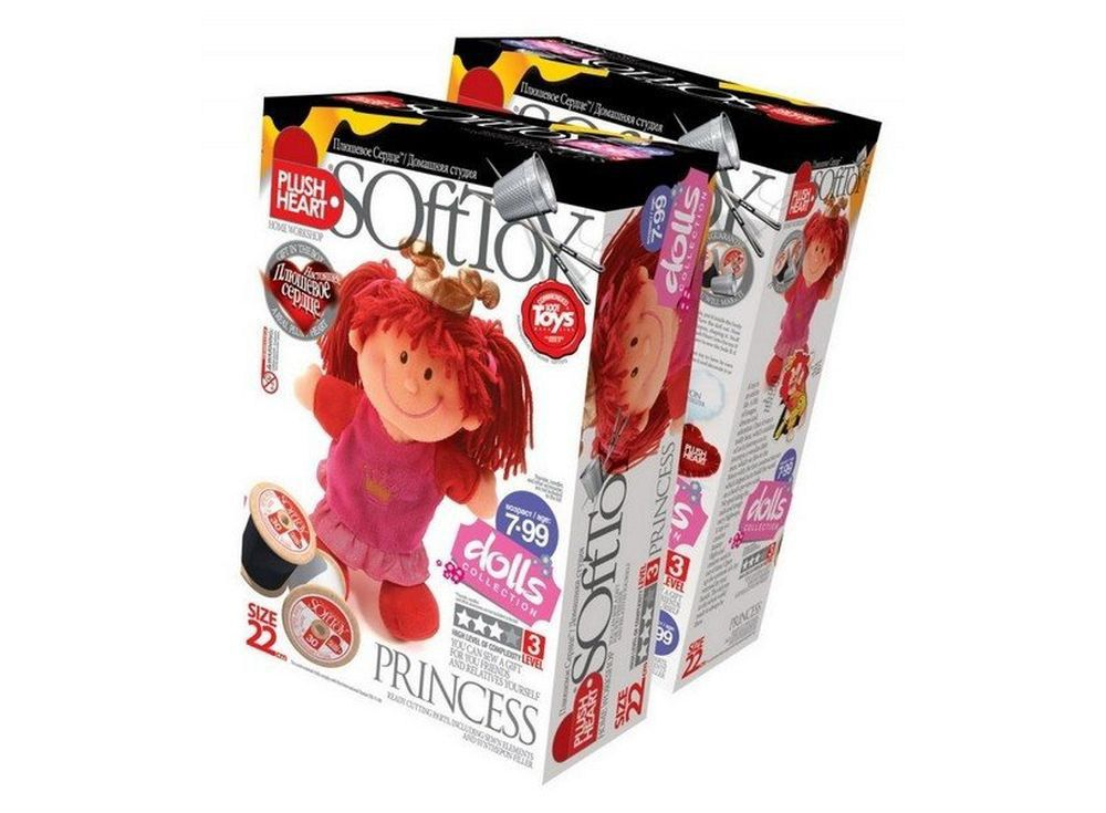Набор для шитья игрушки «Принцесса»Наборы для шитья игрушек<br>С помощью набора ребенок почти самостоятельно (возможно, совсем немного понадобится помощь или контроль взрослого) может сшить прекрасную мягкую эксклюзивную игрушку. В комплект набора входят все материалы, которые необходимы для пошива игрушки (кроме инс...<br><br>Артикул: 457046<br>Сложность: сложные<br>Размер: высота 22 см<br>Техника: Шитье<br>Упаковка: 28x19x9 см<br>Возраст: от 7 лет