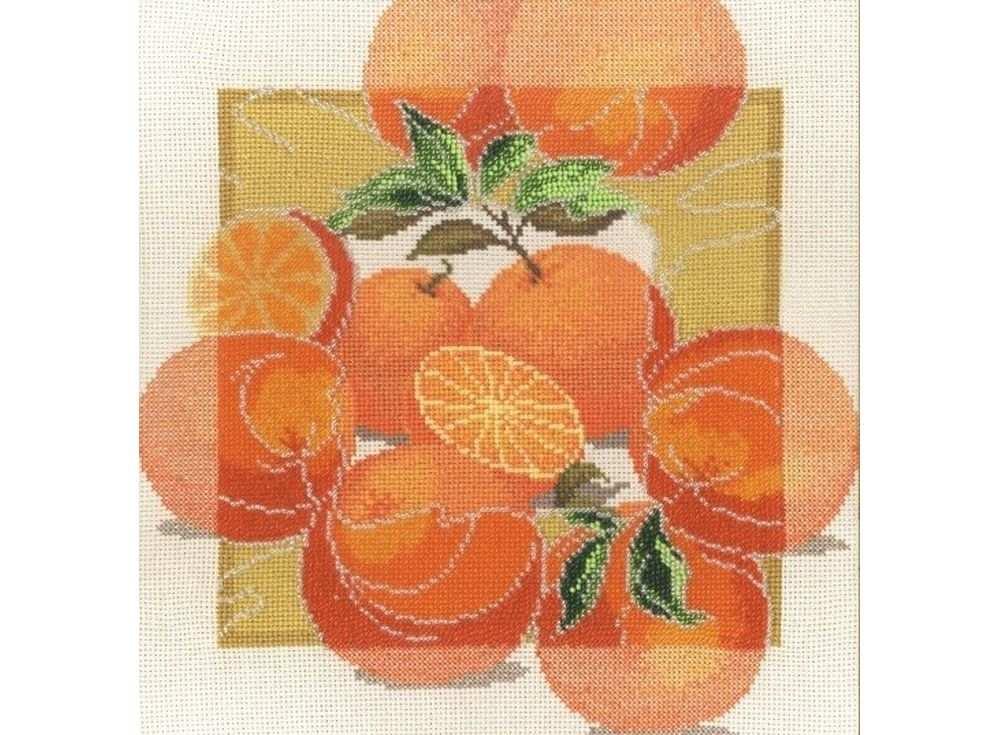 Набор для вышивания «Дары садов Апельсины»Вышивка смешанной техникой Овен<br><br><br>Артикул: 460<br>Основа: канва Aida 14<br>Размер: 27х27 см<br>Техника вышивки: счетный крест+бисер<br>Тип схемы вышивки: Цветная схема<br>Цвет канвы: Бежевый<br>Количество цветов: бисер: 8 цветов, мулине: 11 цветов<br>Заполнение: Частичное<br>Рисунок на канве: не нанесён<br>Техника: Смешанная техника
