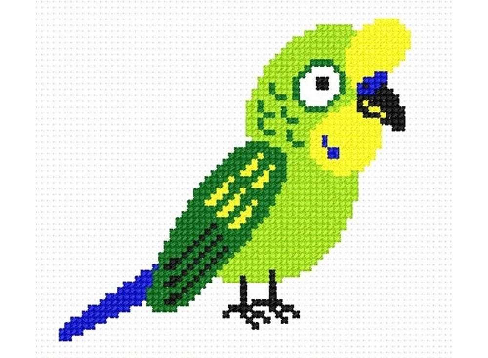 Набор для вышивания «Попугай Кеша»Вышивка крестом Овен<br><br><br>Артикул: 539<br>Основа: канва Aida 14<br>Размер: 11х10 см<br>Техника вышивки: счетный крест<br>Тип схемы вышивки: Цветная схема<br>Цвет канвы: Белый<br>Количество цветов: 5<br>Заполнение: Частичное<br>Рисунок на канве: не нанесён<br>Техника: Вышивка крестом