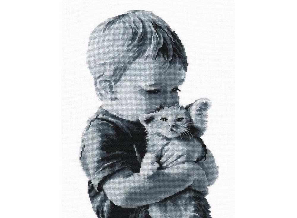 Набор для вышивания «Малыш с котенком»Вышивка крестом Овен<br><br><br>Артикул: 551<br>Основа: канва Aida 14<br>Размер: 20х32 см<br>Техника вышивки: счетный крест<br>Тип схемы вышивки: Цветная схема<br>Цвет канвы: Белый<br>Количество цветов: 10<br>Заполнение: Частичное<br>Рисунок на канве: не нанесён<br>Техника: Вышивка крестом