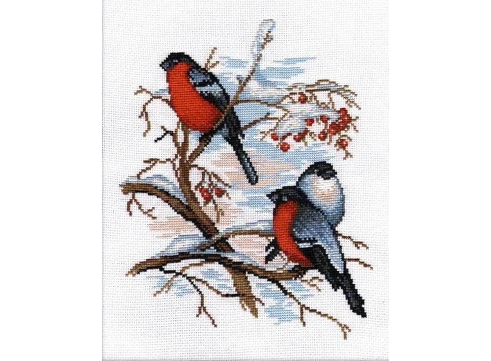 Набор для вышивания «Снегири»Вышивка крестом Овен<br><br><br>Артикул: 565<br>Основа: канва Aida 14<br>Размер: 21x25 см<br>Техника вышивки: счетный крест<br>Тип схемы вышивки: Цветная схема<br>Цвет канвы: Белый<br>Количество цветов: 14<br>Заполнение: Частичное<br>Рисунок на канве: не нанесён<br>Техника: Вышивка крестом