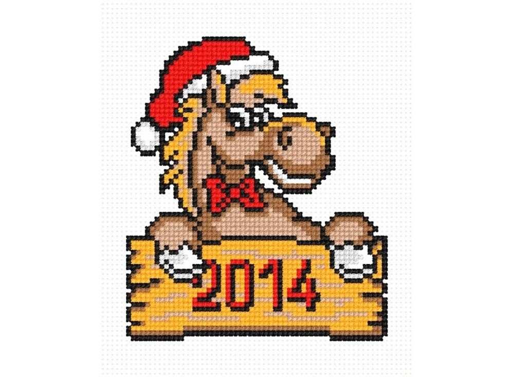 Набор для вышивания «Лошадка новогодняя»Вышивка крестом Овен<br><br><br>Артикул: 572<br>Основа: канва Aida 14<br>Размер: 10х12 см<br>Техника вышивки: счетный крест<br>Тип схемы вышивки: Цветная схема<br>Цвет канвы: Белый<br>Количество цветов: 7<br>Заполнение: Частичное<br>Рисунок на канве: не нанесён<br>Техника: Вышивка крестом