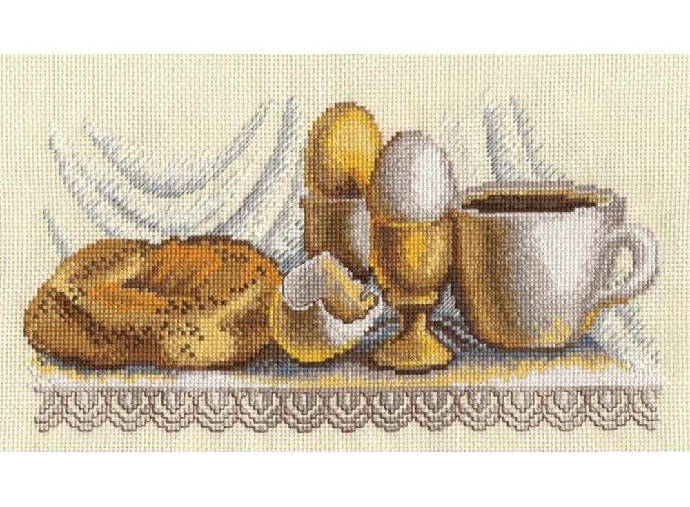 Набор для вышивания «Завтрак»Вышивка крестом Овен<br><br><br>Артикул: 586<br>Основа: канва Aida 14<br>Размер: 27х14 см<br>Техника вышивки: счетный крест<br>Тип схемы вышивки: Цветная схема<br>Цвет канвы: Желтый<br>Количество цветов: 15<br>Заполнение: Частичное<br>Рисунок на канве: не нанесён<br>Техника: Вышивка крестом