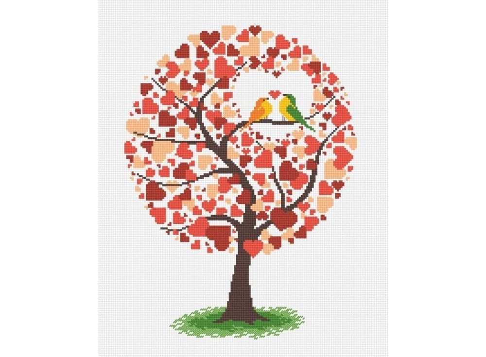 Набор для вышивания «Дерево любви»Вышивка крестом Овен<br><br><br>Артикул: 638<br>Основа: канва Aida 14<br>Размер: 24х38 см<br>Техника вышивки: счетный крест<br>Тип схемы вышивки: Цветная схема вышивки<br>Цвет канвы: Белый<br>Количество цветов: 7<br>Заполнение: Частичное