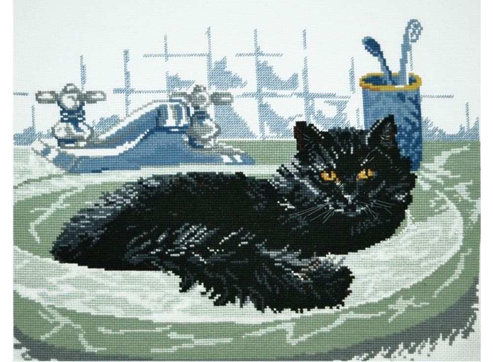 Набор для вышивания «Черный кот»Вышивка крестом Овен<br><br><br>Артикул: 647<br>Основа: канва Aida 14<br>Размер: 35x26 см<br>Техника вышивки: счетный крест<br>Тип схемы вышивки: Цветная схема<br>Цвет канвы: Белый<br>Количество цветов: 14<br>Заполнение: Частичное<br>Рисунок на канве: не нанесён<br>Техника: Вышивка крестом