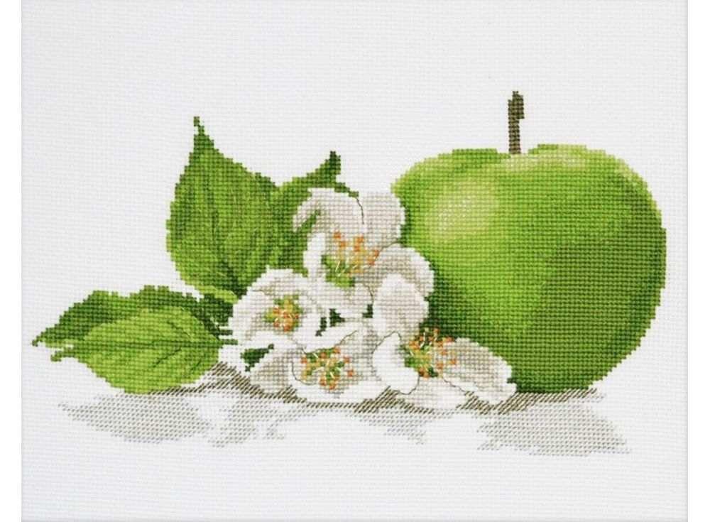 Набор для вышивания «Яблочный аромат»Вышивка крестом Овен<br><br><br>Артикул: 671<br>Основа: канва Aida 14<br>Размер: 25х15 см<br>Техника вышивки: счетный крест<br>Тип схемы вышивки: Цветная схема<br>Цвет канвы: Белый<br>Количество цветов: 12<br>Заполнение: Частичное<br>Рисунок на канве: не нанесён<br>Техника: Вышивка крестом