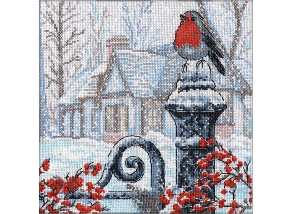 Набор для вышивания «Рождественское утро»Вышивка крестом Овен<br><br><br>Артикул: 693<br>Основа: канва Aida 14<br>Размер: 25х25 см<br>Техника вышивки: счетный крест<br>Тип схемы вышивки: Цветная схема<br>Цвет канвы: Белый<br>Количество цветов: 18<br>Заполнение: Частичное<br>Рисунок на канве: не нанесён<br>Техника: Вышивка крестом