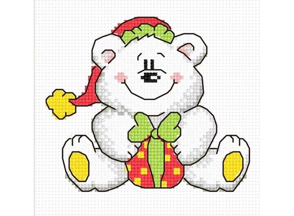Набор для вышивания «Новогодний Мишка»Вышивка крестом Овен<br><br><br>Артикул: 696<br>Основа: канва Aida 14<br>Размер: 11х10 см<br>Техника вышивки: счетный крест<br>Тип схемы вышивки: Цветная схема<br>Цвет канвы: Белый<br>Количество цветов: 8<br>Заполнение: Частичное<br>Рисунок на канве: не нанесён<br>Техника: Вышивка крестом
