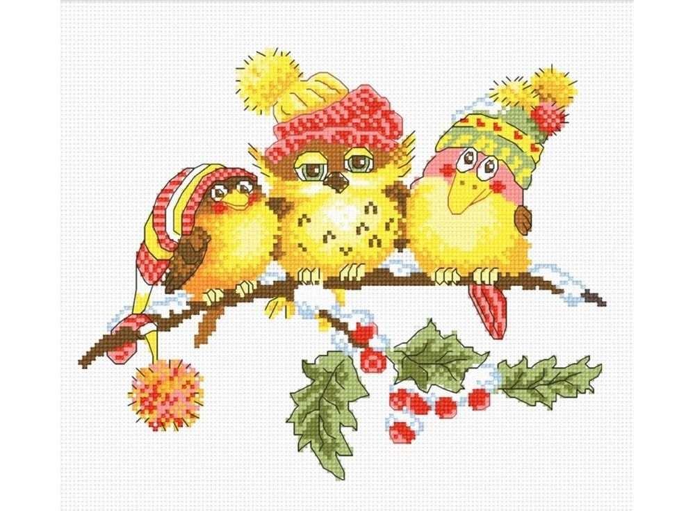 Набор для вышивания «Новогоднее трио»Вышивка крестом Овен<br><br><br>Артикул: 699<br>Основа: канва Aida 14<br>Размер: 23х19 см<br>Техника вышивки: счетный крест<br>Тип схемы вышивки: Цветная схема вышивки<br>Цвет канвы: Белый<br>Количество цветов: 12<br>Заполнение: Частичное